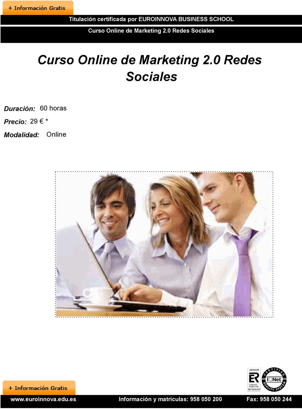 0 Redes Sociales Curso Online de Marketing 2.