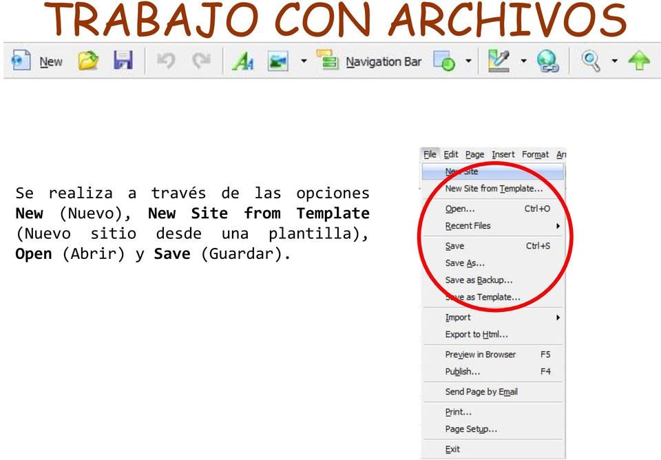 Site from Template (Nuevo sitio desde