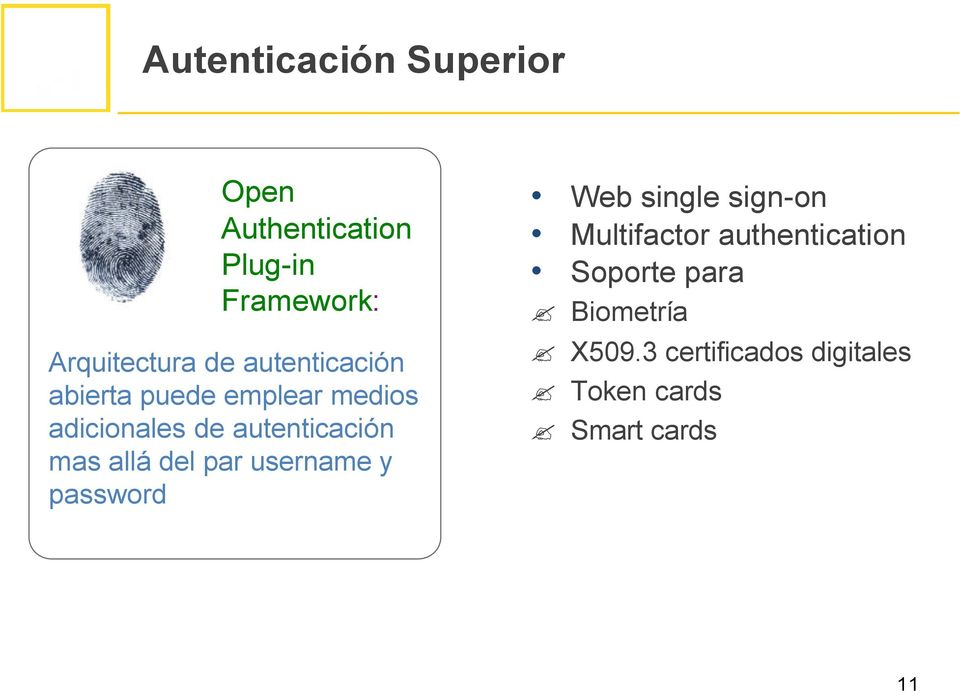 allá del par username y password Web single sign-on Multifactor