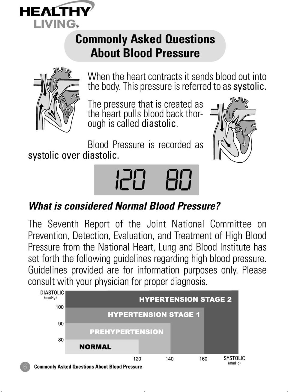 The Seventh Report of the Joint National Committee on Prevention, Detection, Evaluation, and Treatment of High Blood Pressure from the National Heart, Lung and Blood Institute has set