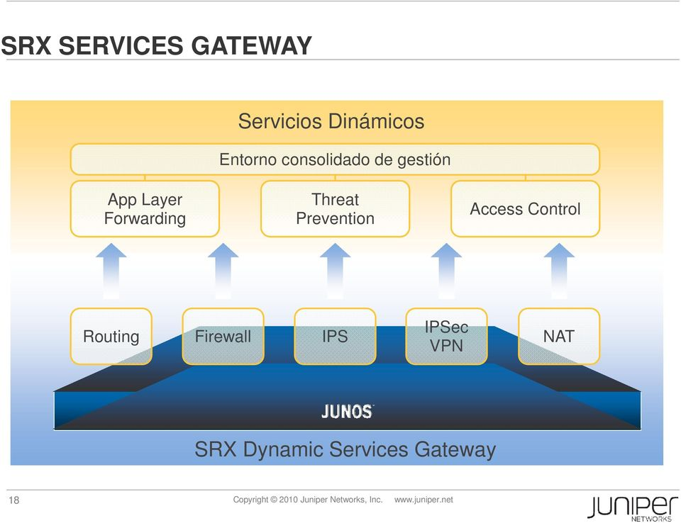 Control Routing Firewall IPS IPSec VPN NAT SRX Dynamic