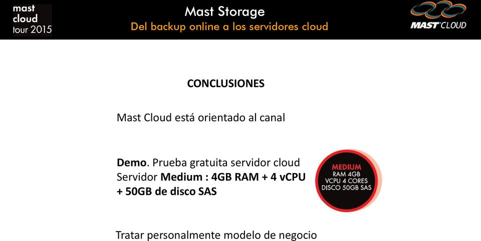 Prueba gratuita servidor cloud Servidor Medium : 4GB RAM