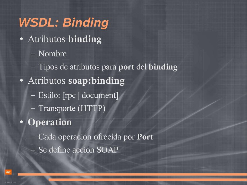 soap:binding Estilo: [rpc document] Transporte