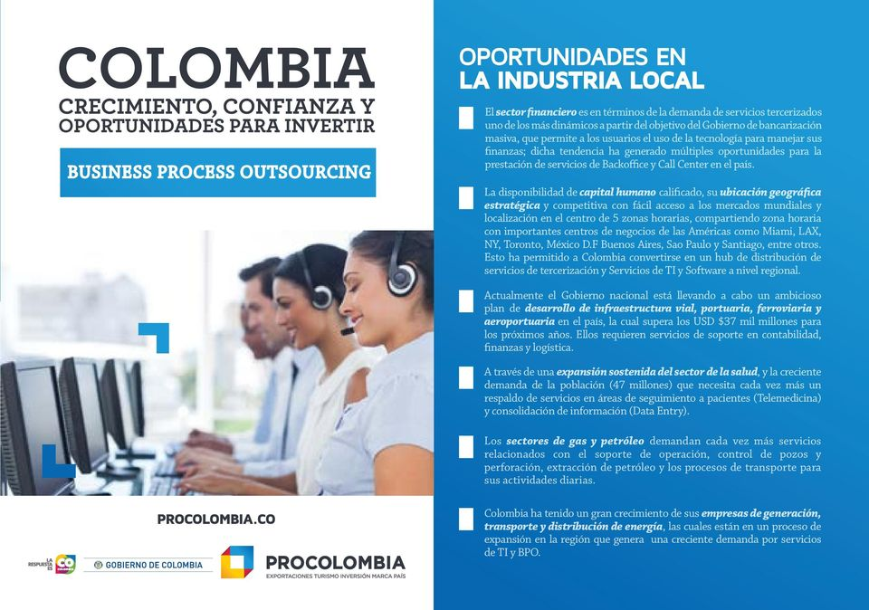 Backoffice y Call Center en el país.