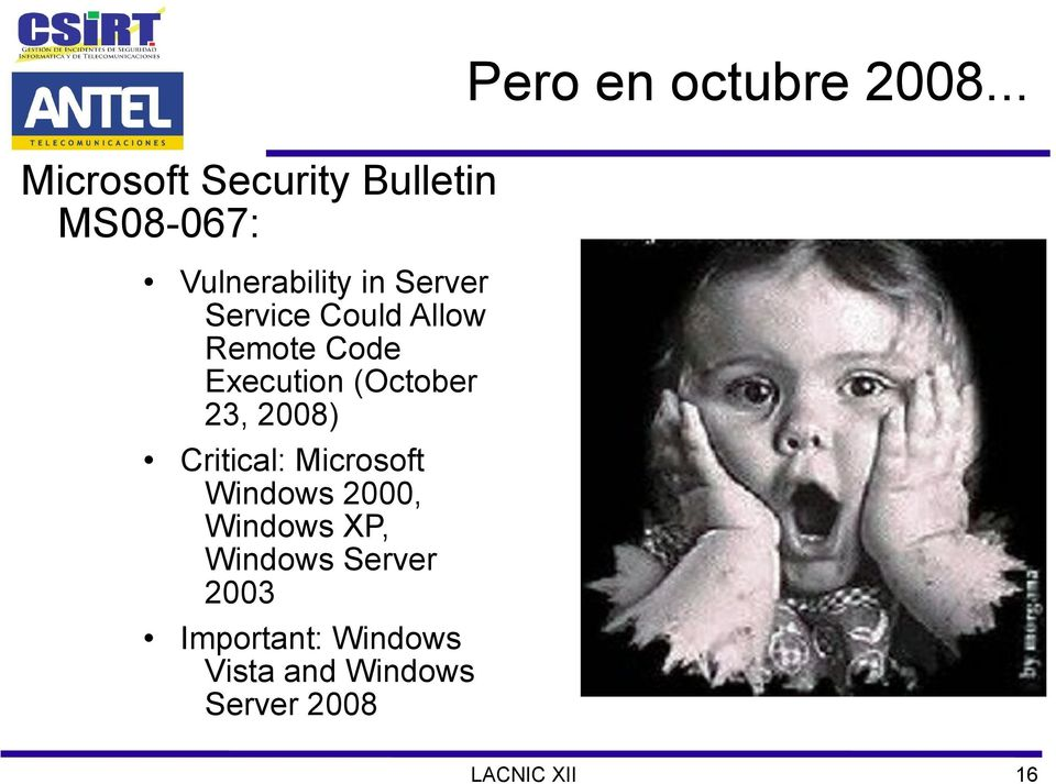 (October 23, 2008) Critical: Microsoft Windows 2000, Windows XP,