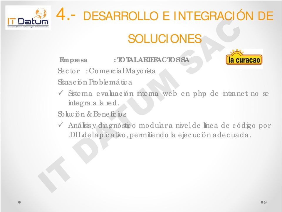 intranet no se integra a la red.