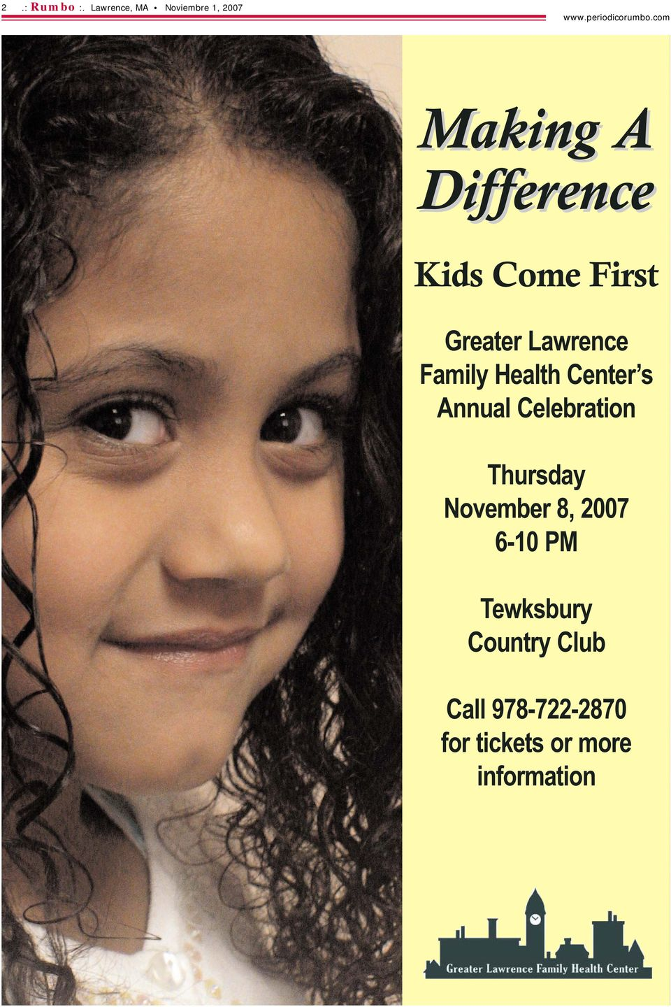 Come First Greater Lawrence Family Health Center s Annual