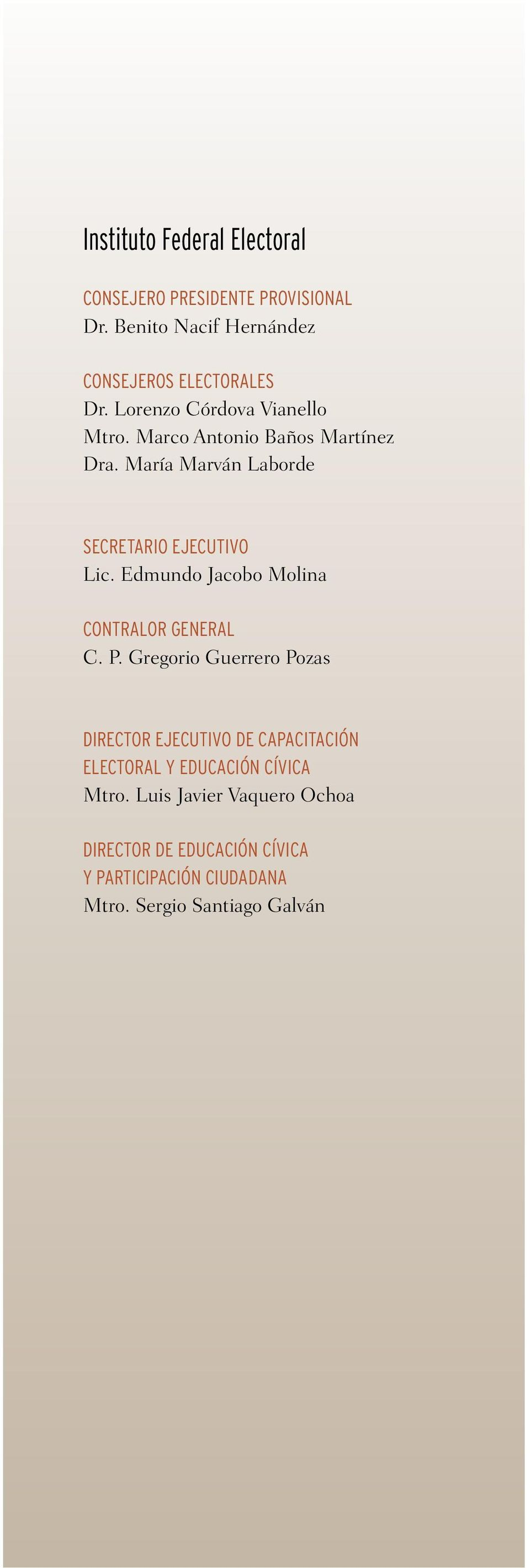 Edmundo Jacobo Molina CONTRALOR GENERAL C. P.