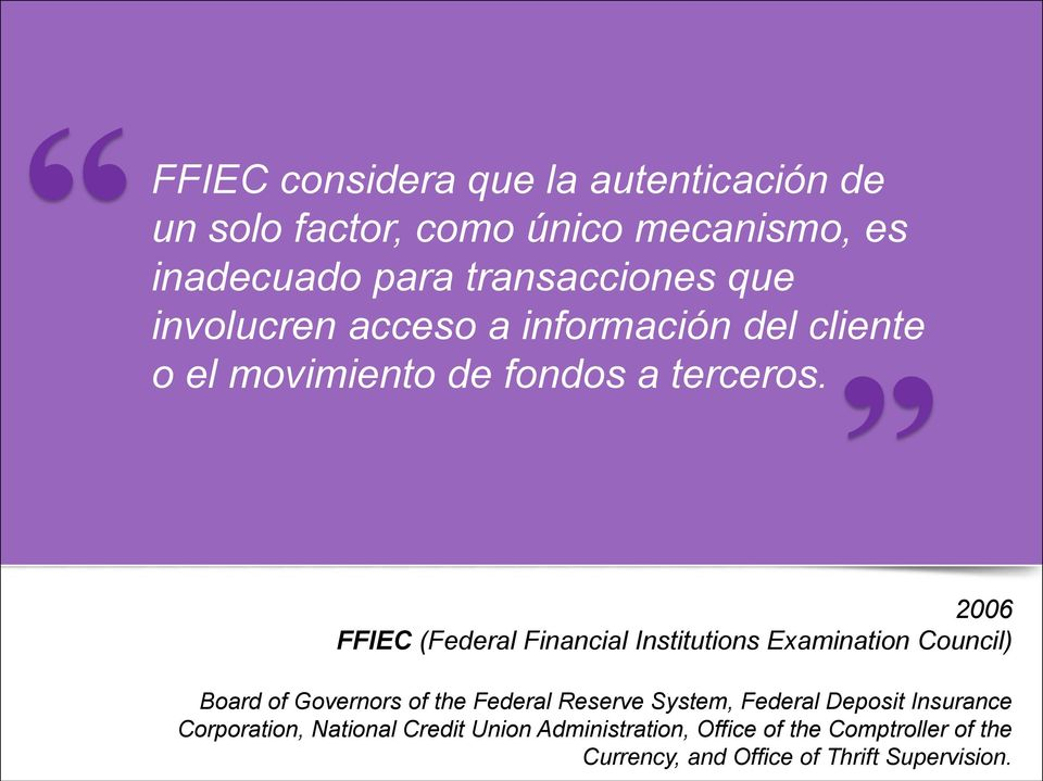 2006 FFIEC (Federal Financial Institutions Examination Council) Board of Governors of the Federal Reserve System,