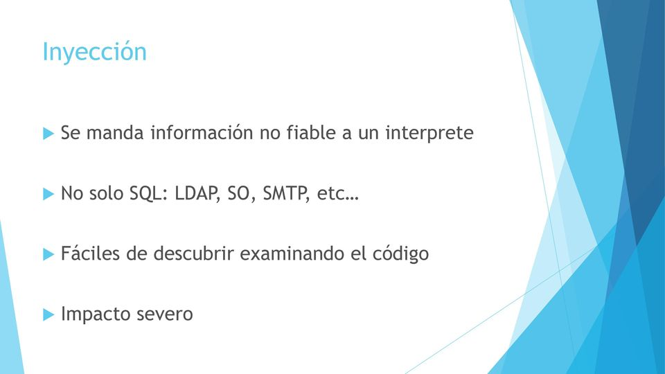 LDAP, SO, SMTP, etc Fáciles de