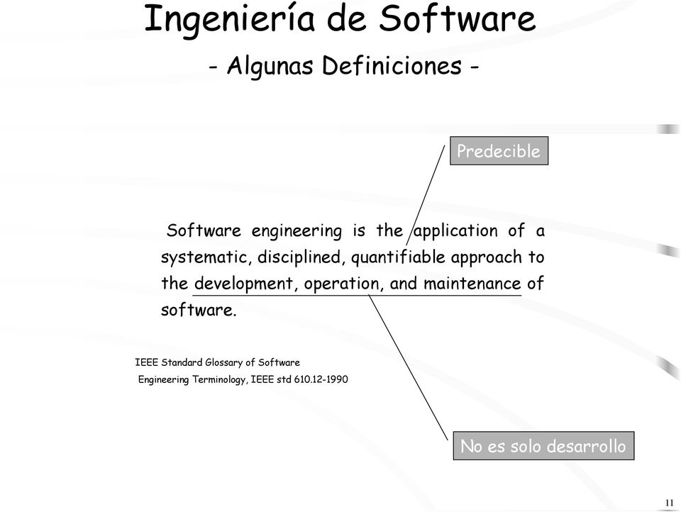 approach to the development, operation, and maintenance of software.