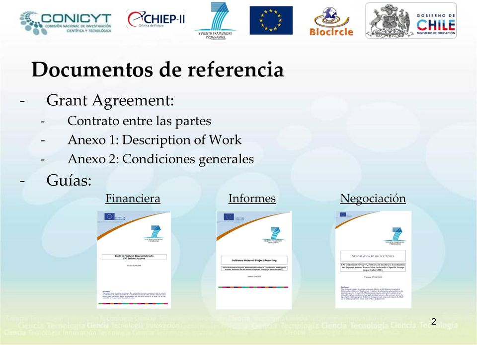Description of Work - Anexo 2: Condiciones