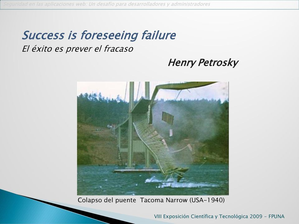 Henry Petrosky Colapso del