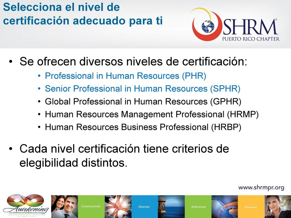 (SPHR) Global Professional in Human Resources (GPHR) Human Resources Management Professional
