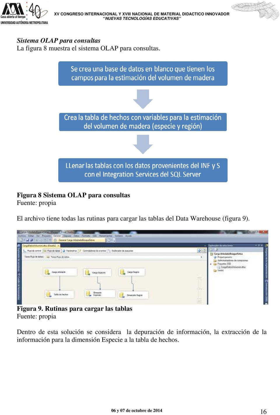tablas del Data Warehouse (figura 9). Figura 9.