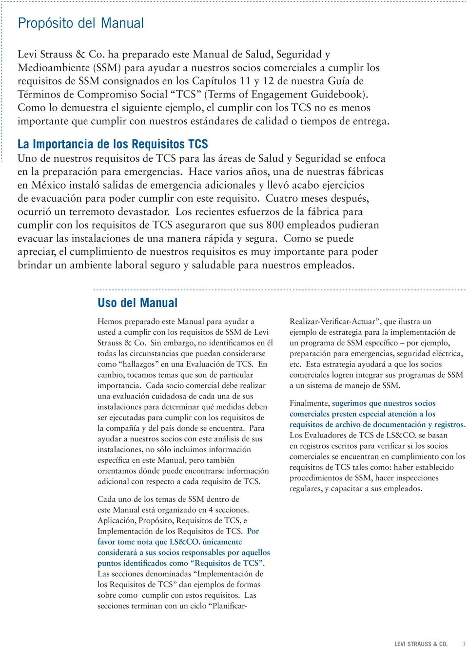 Términos de Compromiso Social TCS (Terms of Engagement Guidebook).