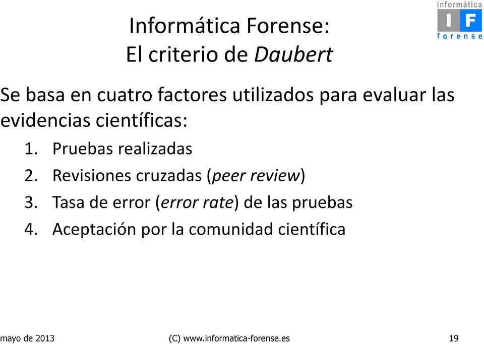 Revisiones cruzadas (peer review) 3.