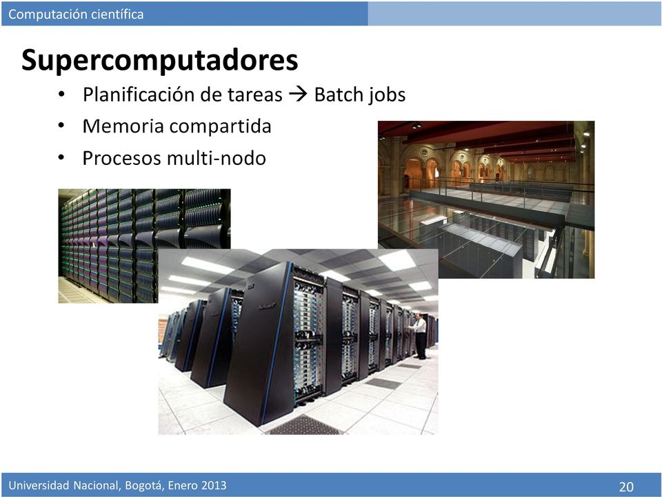 Batch jobs Memoria