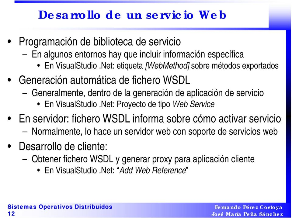 servicio En VisualStudio.