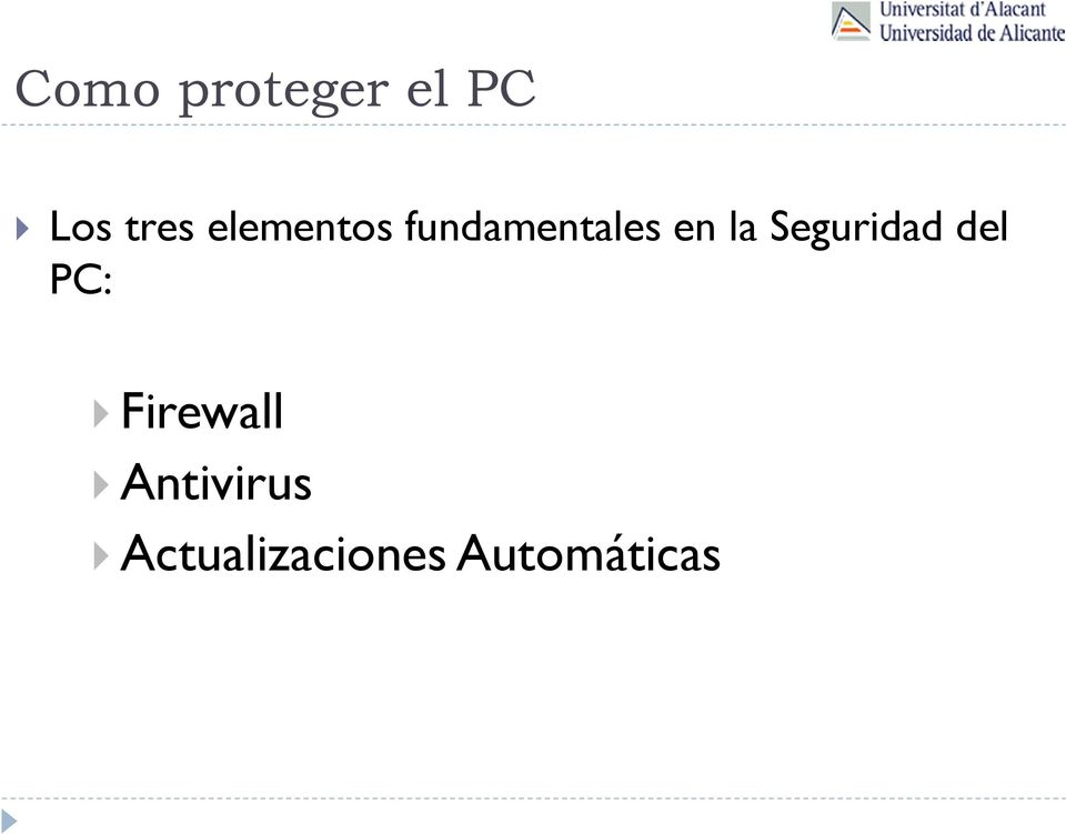 Seguridad del PC: Firewall