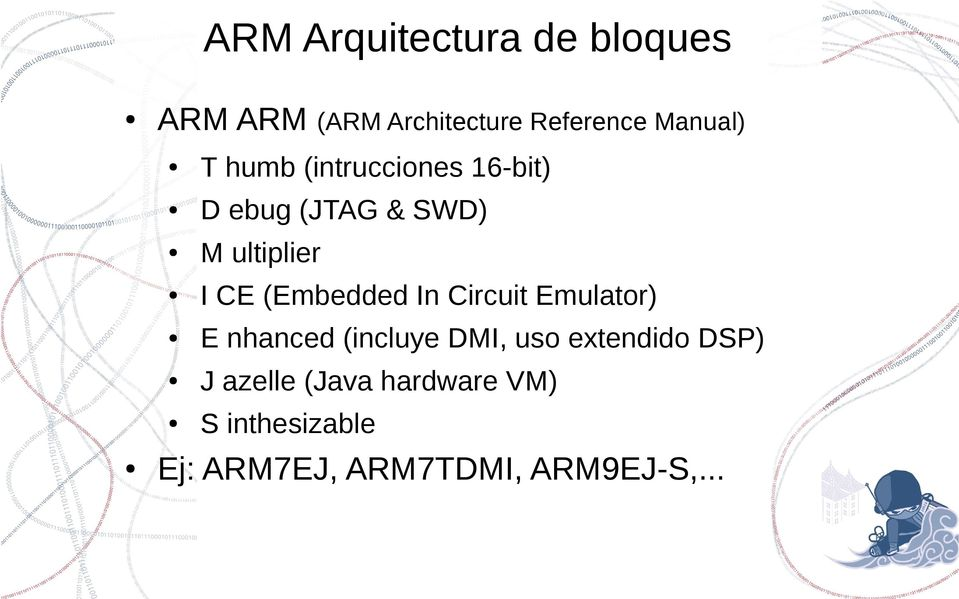 (Embedded In Circuit Emulator) E nhanced (incluye DMI, uso extendido