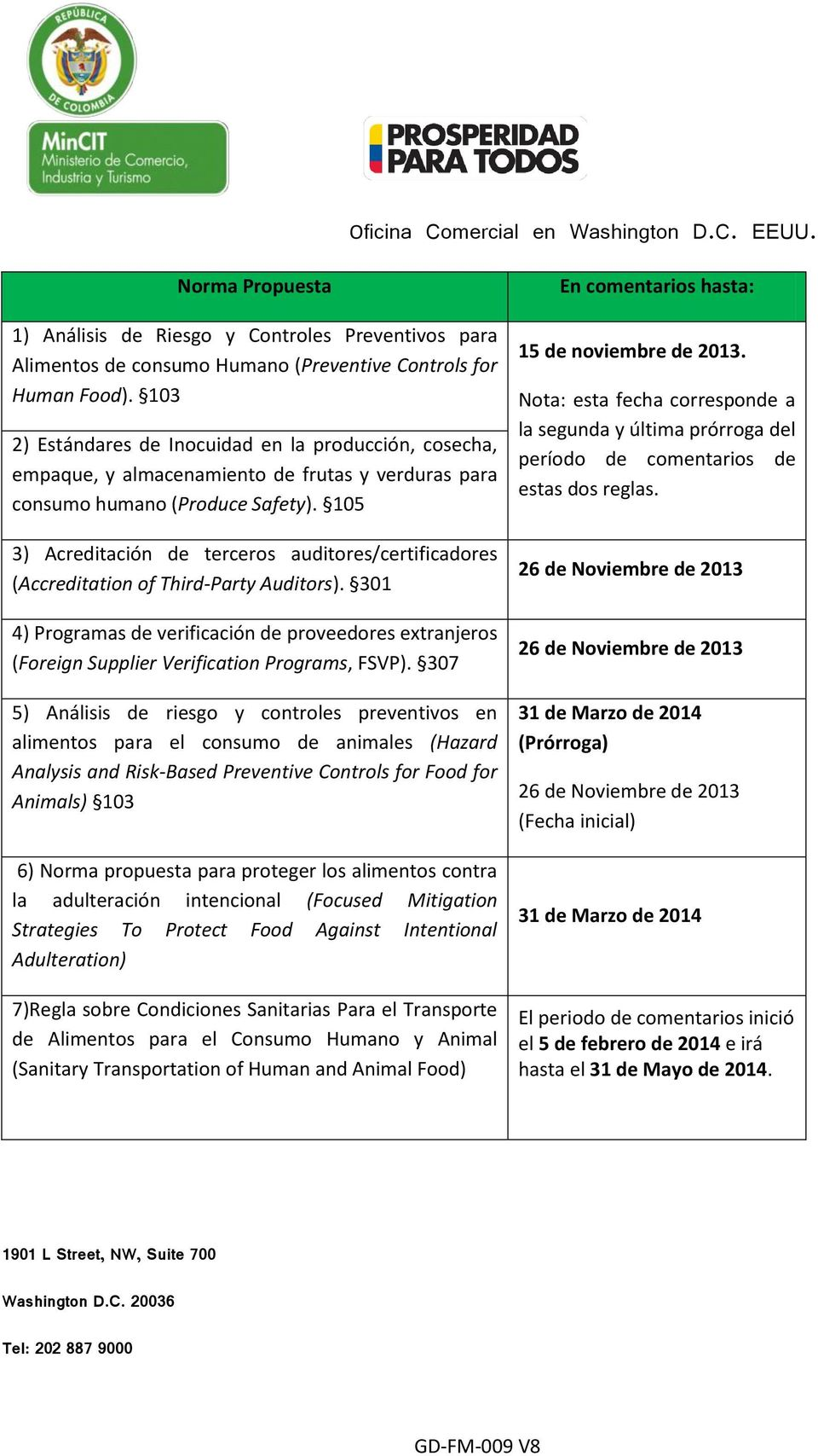 105 3) Acreditación de terceros auditores/certificadores (Accreditation of Third-Party Auditors).