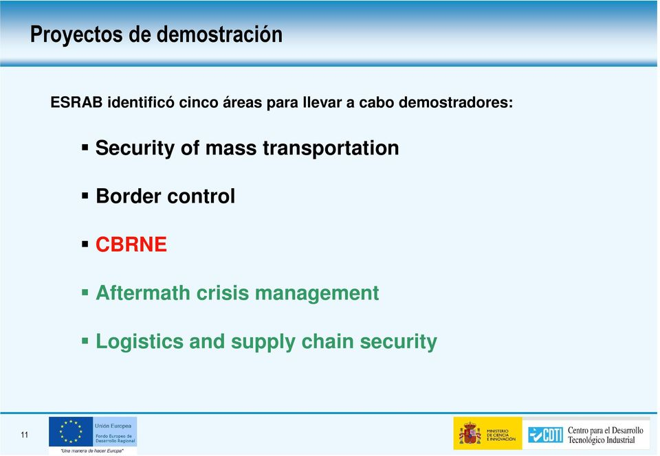 mass transportation Border control CBRNE Aftermath