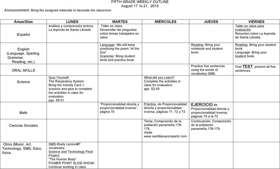 The Respiratory System Bring the Activity Card 1, scissors and glue to complete the activities in class for evaluation. pgs.