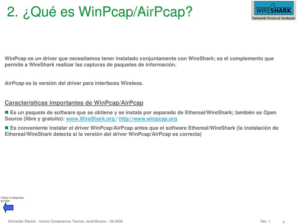 AirPcap es la versión del driver para interfaces Wireless.