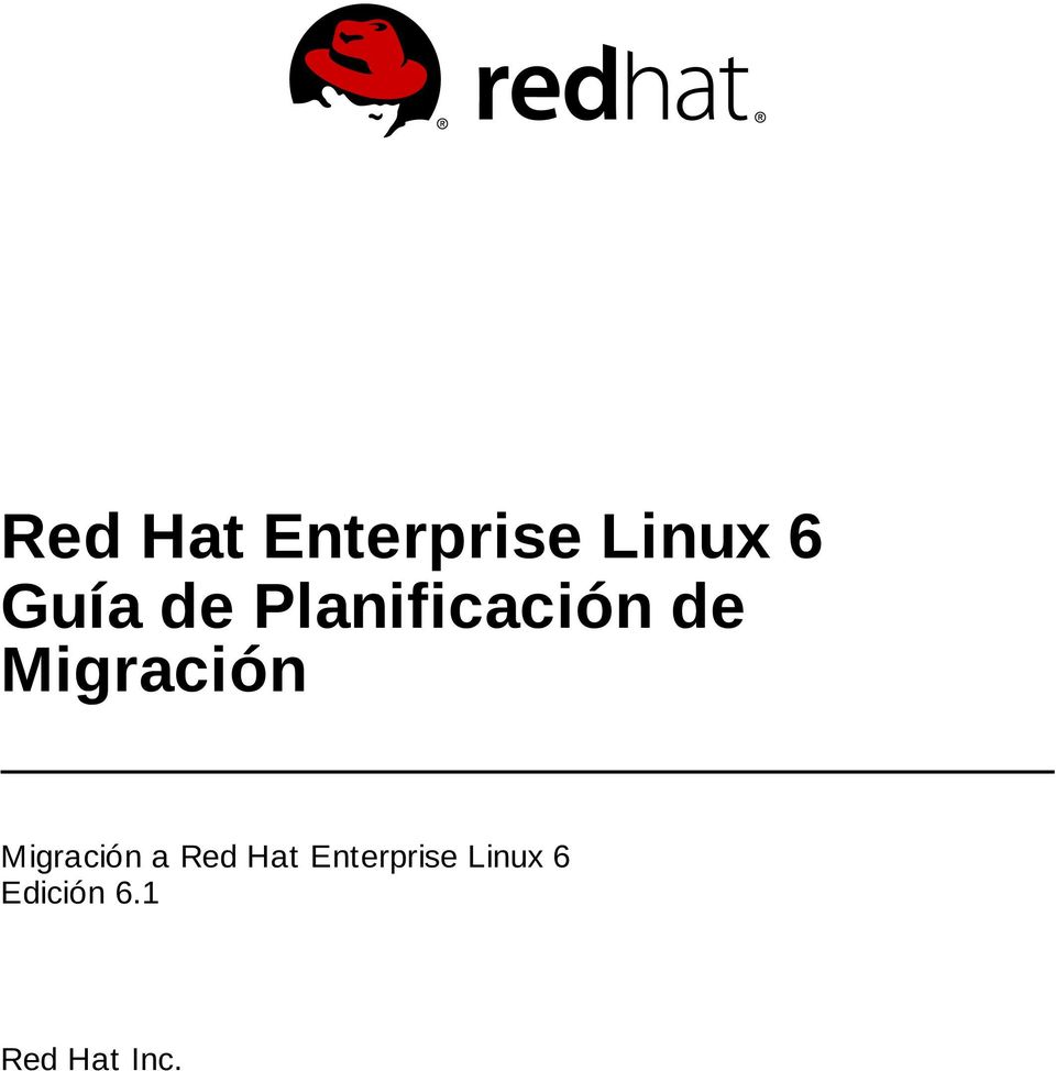 Migración a Red Hat Enterprise