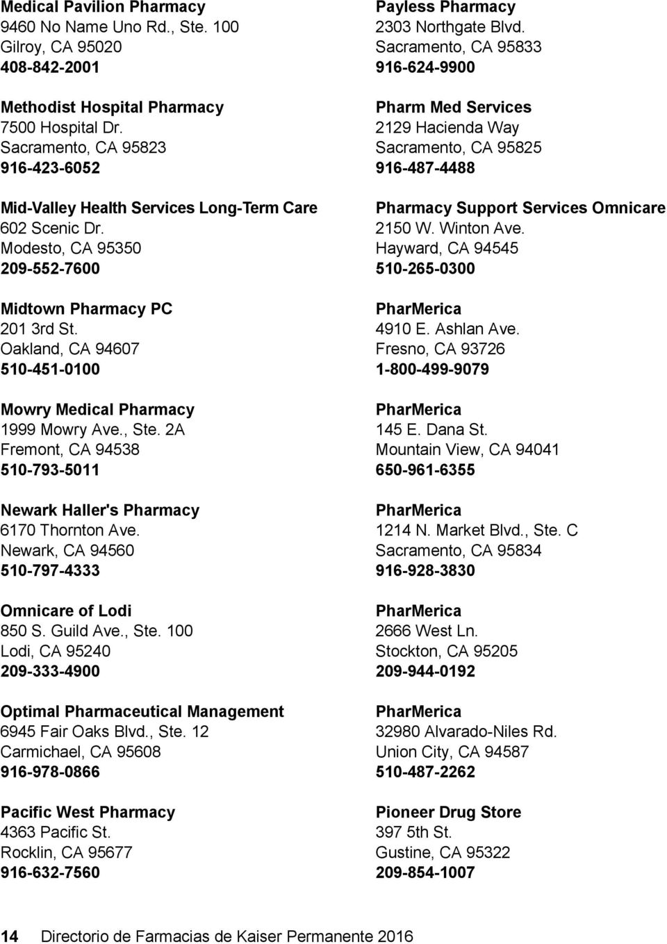 Oakland, CA 94607 510-451-0100 Mowry Medical Pharmacy 1999 Mowry Ave., Ste. 2A Fremont, CA 94538 510-793-5011 Newark Haller's Pharmacy 6170 Thornton Ave.