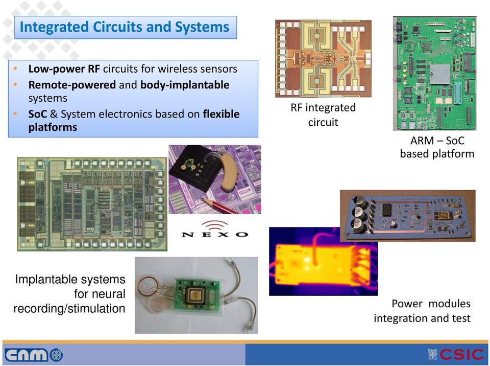 platforms RF integrated circuit ARM SoC based platform 1.