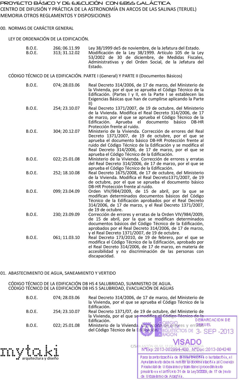 PARTE I (General) Y PARTE II (Documentos Básicos) 074; 28.03.
