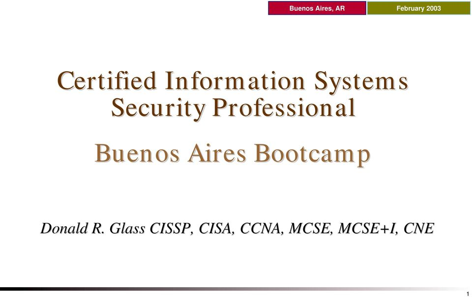 Security Professional Buenos Aires Bootcamp