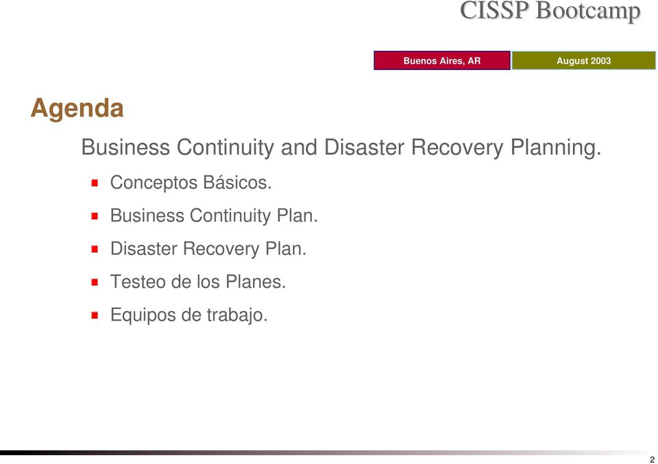 Business Continuity Plan.