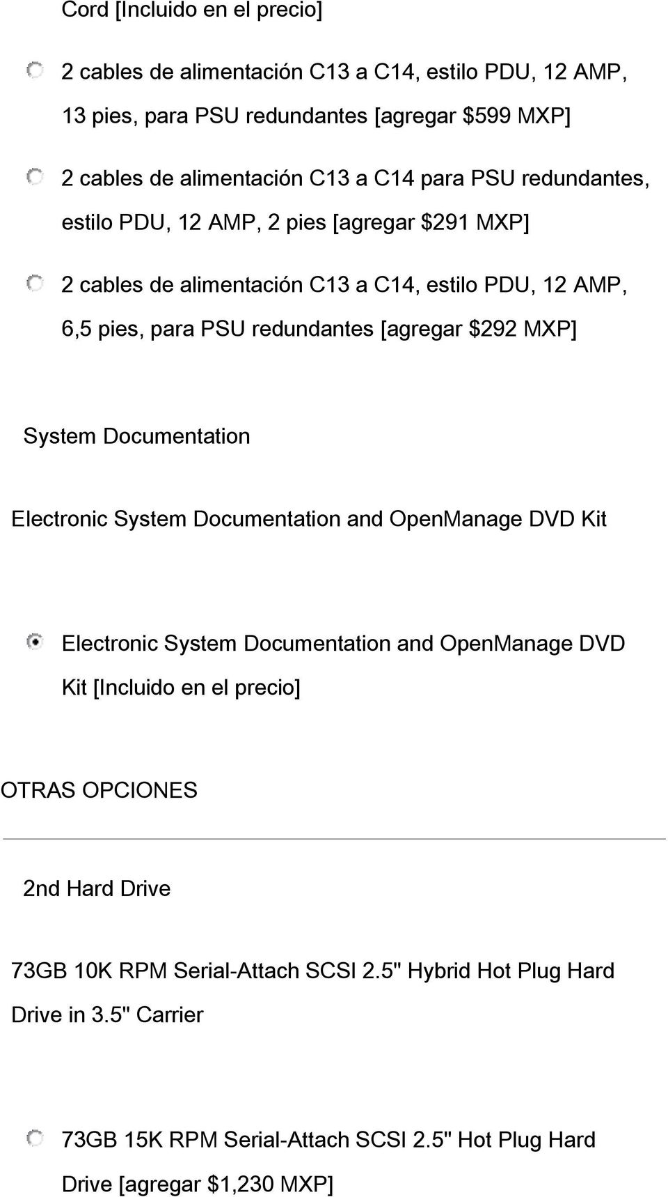 MXP] System Documentation Electronic System Documentation and OpenManage DVD Kit Electronic System Documentation and OpenManage DVD Kit [Incluido en el precio] OTRAS