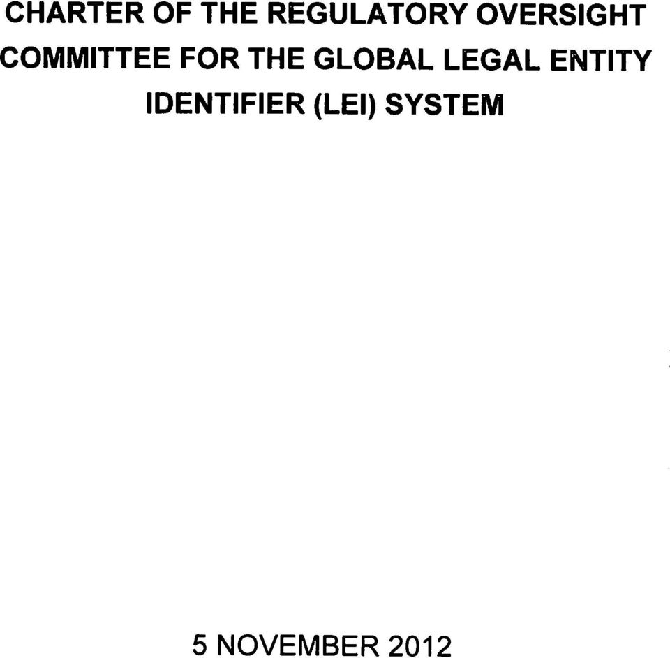 GLOBAL LEGAL ENTITY