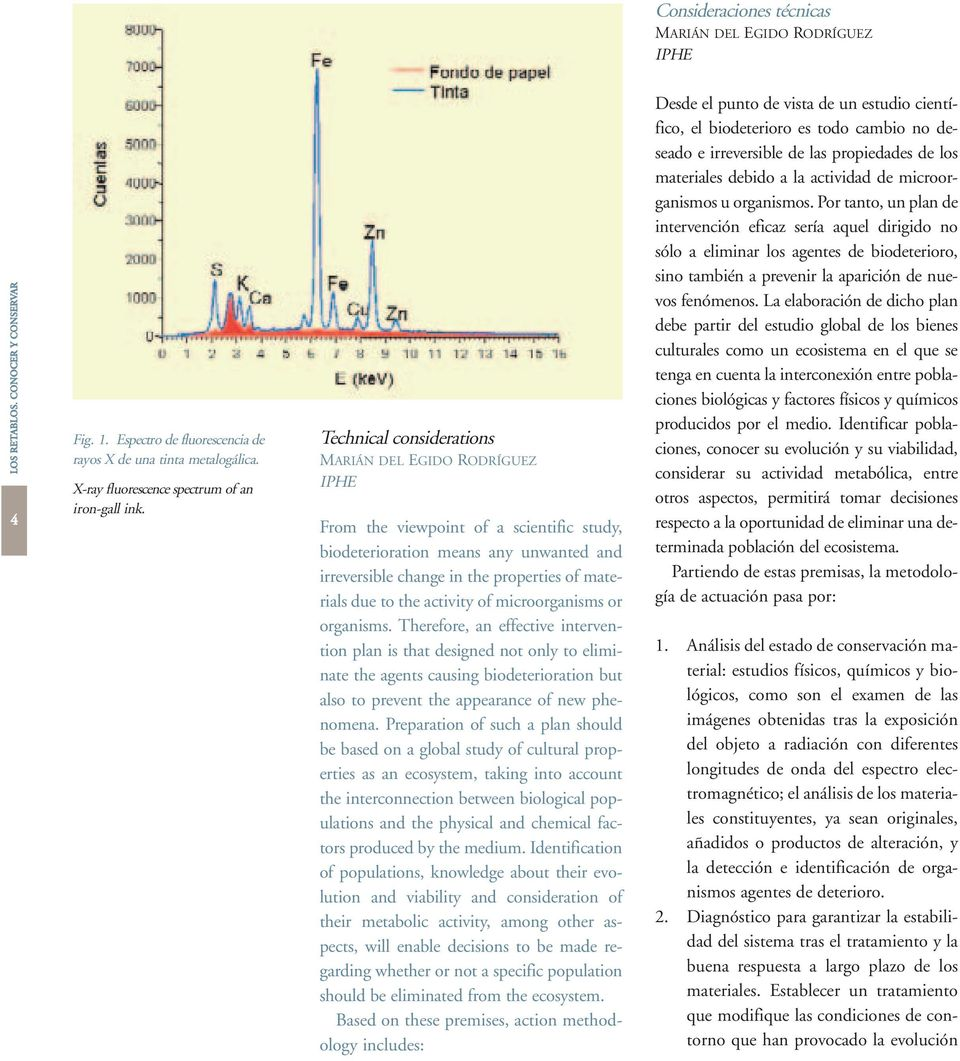 Technical considerations MARIÁN DEL EGIDO RODRÍGUEZ IPHE From the viewpoint of a scientific study, biodeterioration means any unwanted and irreversible change in the properties of materials due to