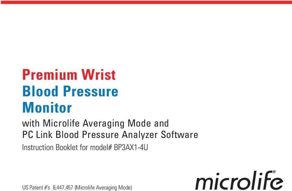 Pressure Analyzer Software Instruction Booklet for