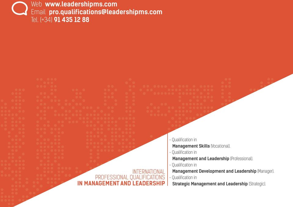 Qualification in Management Skills (Vocational).