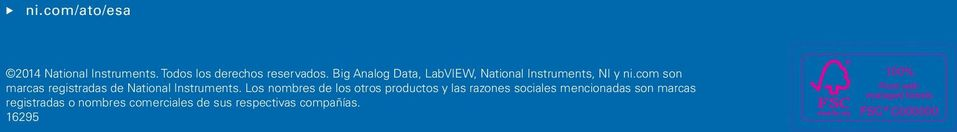 com son marcas registradas de National Instruments.