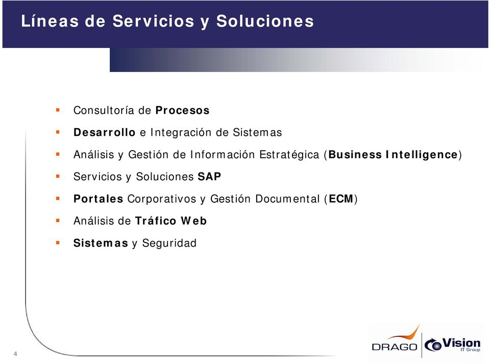 (Business Intelligence) Servicios y Soluciones SAP Portales