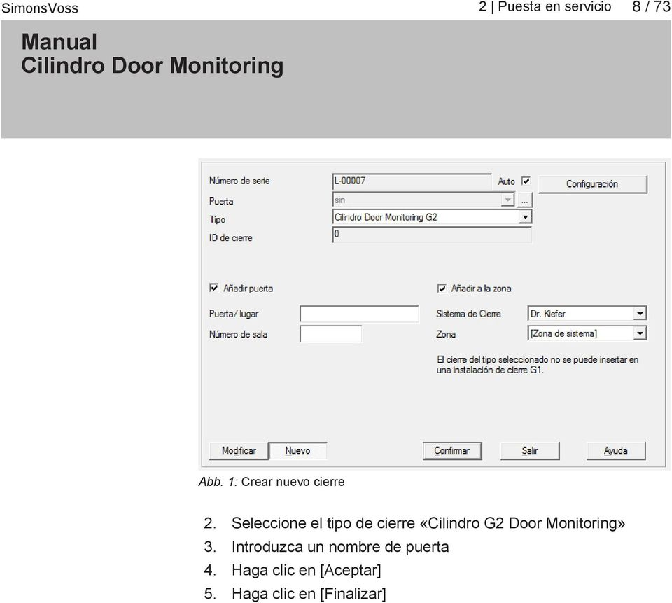 Door Monitoring» 3.