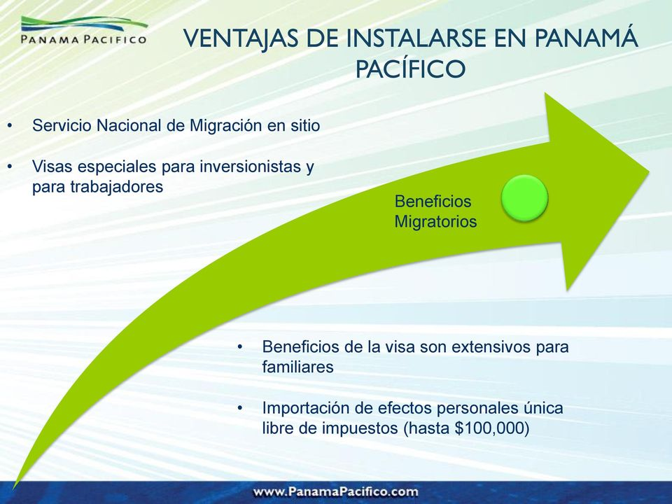 Beneficios Migratorios Beneficios de la visa son extensivos para