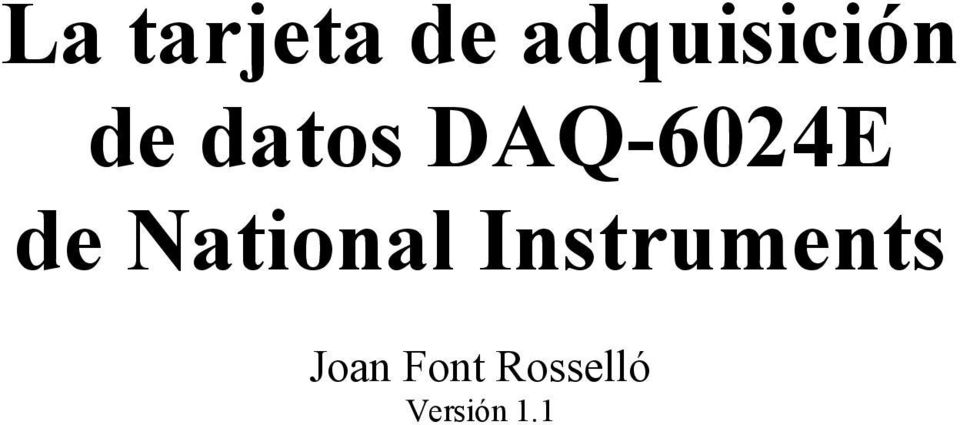 DAQ-6024E de National