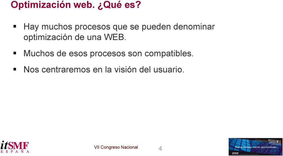 optimización de una WEB.