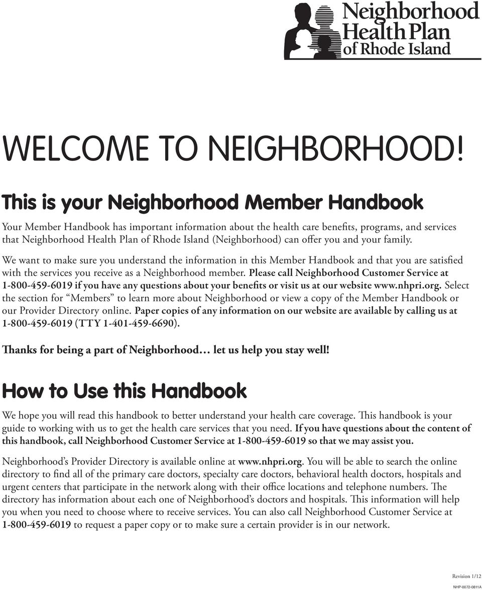 (Neighborhood) can offer you and your family.