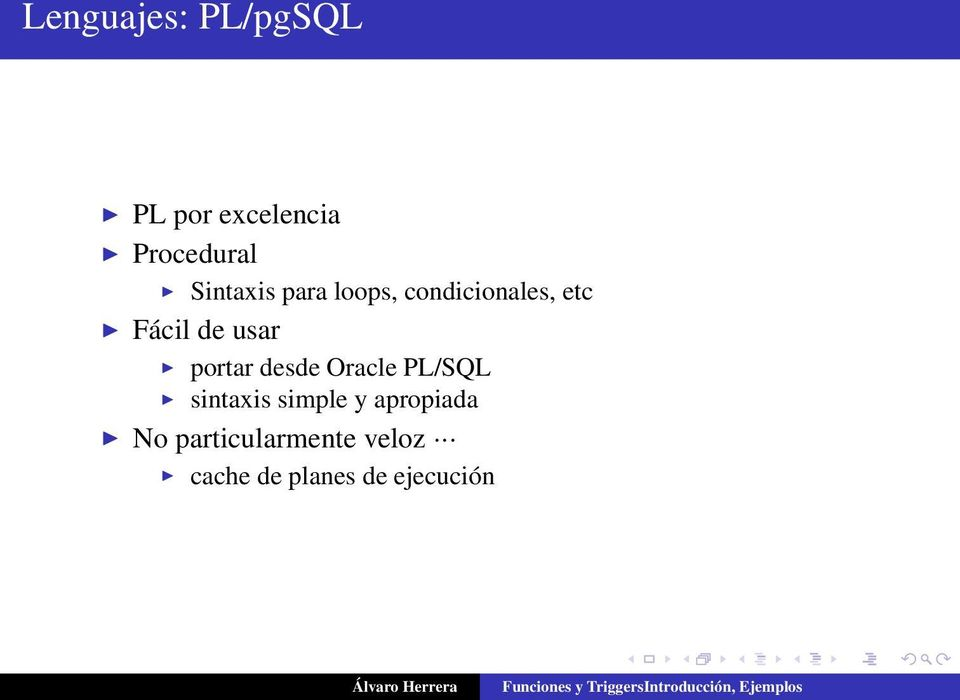 usar portar desde Oracle PL/SQL sintaxis simple y