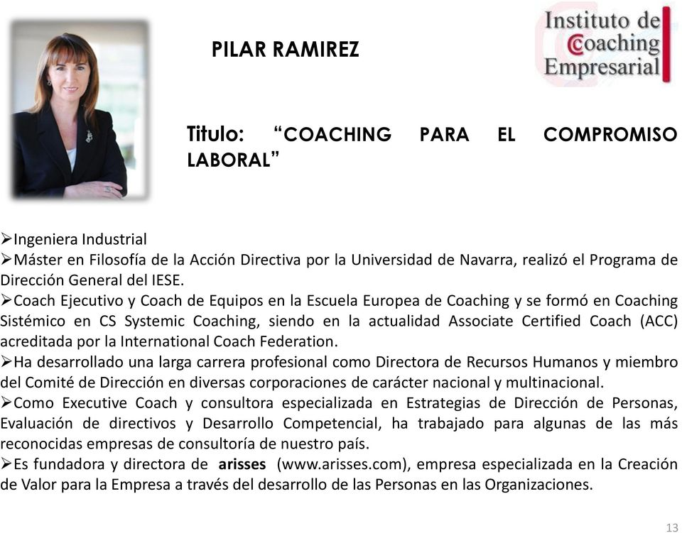 por la International Coach Federation.