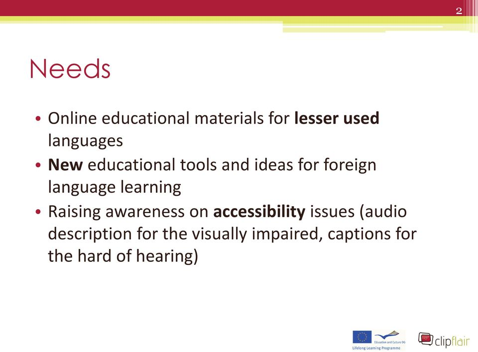 language learning Raising awareness on accessibility issues